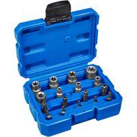 tectake Außen Torx Steckschlüssel Bitsatz 17-tlg. - blau