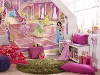 """Disney Fototapete von Komar """"Princess Glitzerparty"""" - Größe 368 x 254 cm, 8 Teile"""