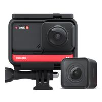 Insta360 ONE R Twin Edition Dual-Objektive Anti-Shake-Sport-Action-Kamera (5,7K 360 ¡ã -Panoramaobjektiv + 4K Weitwinkelobjektiv) 5M Gehaeuse wasserdicht Unterstuetzt FlowState-Stabilisierung Hyperlapse-Sprachsteuerung Zeitlupen-Nachtaufnahme HDR-Foto-Video