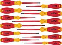 Wiha SoftFinish 12-teiliges Elektriker-Schraubendreher-Set SlimFix 41003