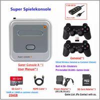 Super akutuelle Spielekonsole(41000+Spiele integriert) mit 2 drahtlose Controllern /TV-Spielekonsole(64G) für 4K TV Support HDMI/AV Ausgang, Unterstützung 5 Spieler, LAN / WiFi,die beste Geschenke für Kinder und Männer, die alles haben.