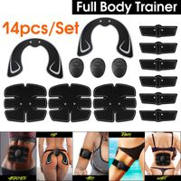 Damen ABS Bauchmuskeltrainer Po Push up Sport Stimulator Trainingsgerät