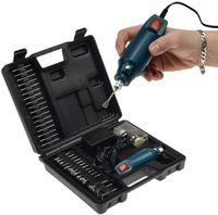 ChiliTec Mini-Bohrmaschine Drill-Power V2 12V= 12.000UpM, 63-teilig, viel Zubehör
