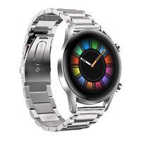 20mm Uhrenarmbänder Silber Edelstahl Ersatz Uhrenarmbänder Kompatibel mit HUAWEI WATCH GT2 42mm / HONOR MagicWatch2 42mm