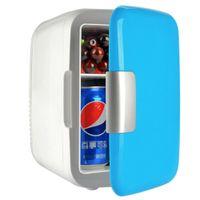 Heiß und kalt Doppelter Gebrauch Portable Mini Erwärmung und Kühlung Fahrzeug Kühlschrank mit Auto-Adapter (blau)