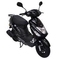 ALPHA MOTORS Motorroller »CityLeader«, 50 ccm, 45 km/h, Euro 4, schwarz