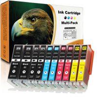 REAL Kompatibel 10 Patronen Canon PGI-570/571 XL Multipack alle Farben für Canon Pixma TS 5000, 5050, 5050, 5051, 5052, 5053, 5055, 6000, 6040, 6050, 6050, 6051, 6052, 8000, 8040, 8050, 8050, 8051, 8052, 8053, 9000, 9050, 9050, 9055 Series Drucker