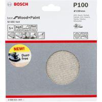Bosch Schleifblatt M480 Net, Best for Wood and Paint, 150 mm, 100, 5er-Pack