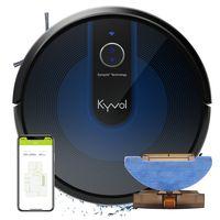 Kyvol Saugroboter mit Wischfunktion Wischroboter mit 2200Pa Saugleistung, Smart Navigation, 150Min. Laufzeit, Funktioniert mit Alexa, Optimiert für Hartböden, Teppiche, Tierhaare