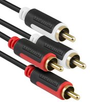 mumbi 1,5m Stereo Audio Cinch Verbindungskabel - 2x RCA Cinch Stecker auf 2x RCA Cinch Stecker