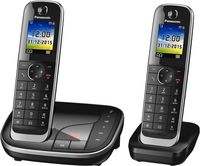 Panasonic KX-TGJ322GB Schnurlostelefon mit AB + 2. Mobilteil schwarz