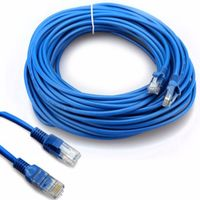 30 Meter CAT e5 LAN / Netzwerkkabel Patchkabel DSL Kabel Blau