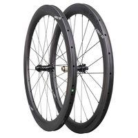 ICAN Carbon Laufräder AERO 50 Disc Rennrad Laufradsatz 50mm Drahtreifen Tubeless Ready Scheibenbremse 12x100 / 12x142mm