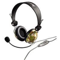 "Hama Headset ""HS-10 Camouflage"", verkabelt, 2.4 m, 20 - 20000 Hz, 32 Ohm, 113 dB, 15 - 20000 Hz"