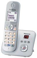 Panasonic KX-TG6821 Strahlungsarmes Schnurlostelefon mit Anrufbeantworter, Rufnummernanzeige, 15h Sprechzeit, 7 Tage Standby, Freisprechfunktion, DECT