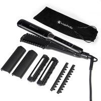 VIDABELLE Glätteisen 4-in-1 Multistyler mit Öl Behandlung für Profi Haar Styling