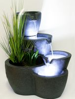 Springbrunnen Botana KW mit LED-Beleuchtung Gartenbrunnen Terrassenbrunnen Balkonbrunnen Wasserspiel