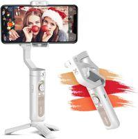 Hohem iSteady X Gimbal Smarphone,iSteady X Handy Gimbal Stabilisator für ios 12 11 Pro Max/Huawei/Samsung, Handstabilisator Smartphone Gimbal für Vlog/Youtuber,Faltbar Mobile Gimbal mit New APP,Weiß
