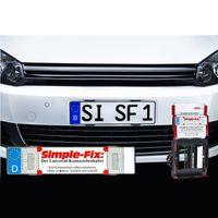 2 x Kennzeichenhalter Rahmenlos Nummernschildhalter KFZ Auto Setpreis SimpleFix