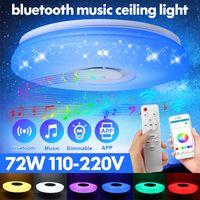 APP-Steuerung + Fernbedienung 220 V (RGB) DIMMBAR 72W RGB LED Deckenleuchte Lampe Design Sternen bluetooth Lautsprecher