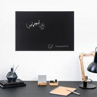 Navaris Magnettafel Magnetboard aus Metall - 56 x 38 x 0,12 cm Magnet Tafel zum Beschriften - Magnetwand inkl. Kreidestift und Befestigung