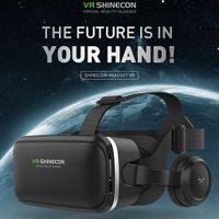VR SHINECON 6.0 VR Headset Virtual Reality Brille Kopfhörer 3D Brille Headset Helme Unterstützung 4,7 6,53 Zoll Großbild Smartphone
