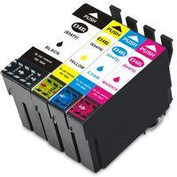 XXL Druckerpatronen-Set kompatibel mit Epson T3461-T3464, T3471-T3474, T34XL Black, Cyan, Magenta, Yellow - Passend für Epson WorkForce Pro WF-3720 DW, WorkForce Pro WF-3720 DWF, WorkForce Pro WF-3725 DWF