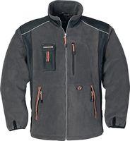 Fleecejacke Gr. XXL dunkelgrau/schwarz/orange 100 % Polyester