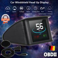 Auto HUD Head Up Display OBD2 RPM Tachometer Kraftstoffverbrauch OverSpeed Geschwindigkeit  Warning Mileage Universal