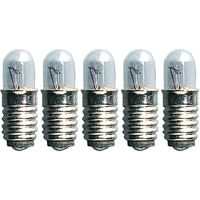 Ersatzlampen 5er Pack - E5 - 12V - 0,8W - klar - H: 1,5cm - D: 0,6cm
