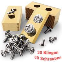30 Stück Titan Ersatz-Messer Klingen Set für Worx Landroid Mähroboter Rostfrei