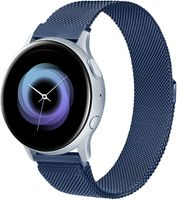 Kompatibel mit Samsung Galaxy Watch Active / Active 2 40mm/44mm Armband, 20mm Edelstahl Metall Uhrenarmband fürGear Sport/S2 Classic/Garmin Vivo active 3/Watch 3 41mm (20mm, Blau) Blau 20mm