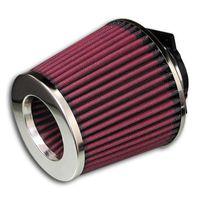 JOM offener Sportluftfilter Luftfilter Rot mit Adapter 60/65/70mm universal