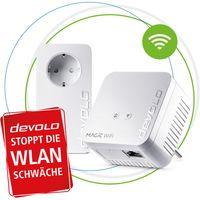 devolo Magic 1 WiFi mini: Kompaktes Powerline Starter Kit für zuverlässiges WLAN einfach via Stromleitung durch Wände und Decken, Mesh, G.hn-Technologie, Gäste-WLAN, Farbe:Weiß