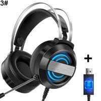 Kabelgebundenes Stereo-Gaming-Headset Ger?uschunterdrš¹ckung LED-Licht Surround-Sound-Kopfh?rer 3 #