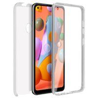 Schutzhülle für Samsung Galaxy A11 / M11, Vorder- + Rückseite – Transparent