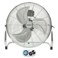 AREBOS Bodenventilator Windmaschine Luftkühler Lüfter 18 Zoll Silber 120W 50Hz