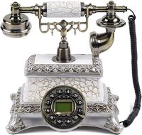 Antikes Nostalgisches Festnetztelefon Retro Telefon Schnurgebundene Festnetz Dekoration