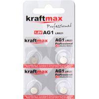 Kraftmax 4er Pack Knopfzelle Typ 364 ( AG1 / LR621 / LR60 ) Hochleistungs- Batterie / 1,5V  Uhrenbatterie für professionelle Anwendungen - Neuste Generation