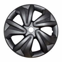 "Rapid Teck® 4x Radkappen Carbon-Optik Grau 15"" Zoll Auto Radzierblenden"