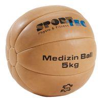 Medizinball aus Leder, ø 30 cm, 5 kg