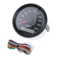 # 1 Motorrad Tachometer 85mm Auto Tacho 200 Km / H Digitalanzeigen Betriebsspannung: 12V / 24V