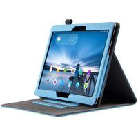 Tablet Hülle für Lenovo Tab M10 TB-X605F Tablet mit 10.1 Zoll Schutzhülle aus Kunstleder Flip Case Smart Cover Etui mit Halterung Hellblau