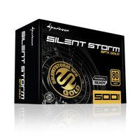 Sharkoon SilentStorm SFX Gold - 500 W - 100 - 240 V - 50 - 60 Hz - 7 A - +12V,+3.3V,+5V,+5Vsb,-12V - 105 W