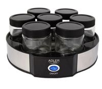 Adler AD 4476, Schwarz, Grau, Transparent, Joghurt, 42 °C, 20 W