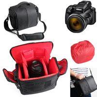 Für Nikon Coolpix P1000 Kameratasche Fototasche Umhängetasche Schultertasche Zubehör Tasche für Nikon Coolpix P1000 mit Zusatzfächern,