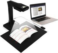 CZUR ET16 Plus Dokumentenscanner Buchscanner Professionelle Dokumentenkamera mit 16MP Auto-Flatten Technologie OCR 180+ Sprachen Kompatibel mit Windows Mac für Family Home Office