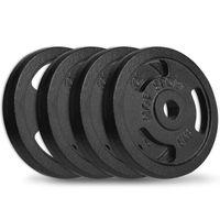 Hop-Sport 20 kg Hantelscheiben-Set 4x5 kg 30/31mm Gripper Gusseisen Gewichte Hanteln