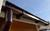 Weka Dachrinne / Kastenrinnen-Set Gr. 4 für Flachdach bis 650cm