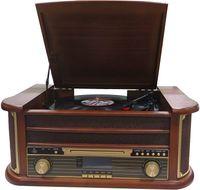 Denver Kasetten- und Plattenspieler MRD51, DAB+, FM/AM Radio mit CD-, Holzoptik